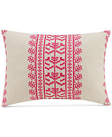 "Vera Bradley Pink Lace Embroidery 14"" x 20"" Decorative Pillow"