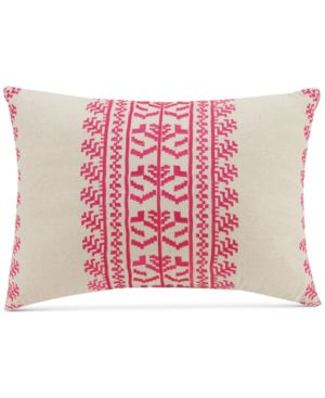 """Vera Bradley Pink Lace Embroidery 14"""" x 20"""" Decorative Pillow Bedding 5611996"""