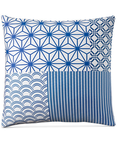 Charter Club Damask Designs Patchwork European Sham, Created for Macy's