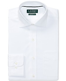 Lauren Ralph Lauren Men's Classic/Regular Fit Non-Iron Stretch Poplin Dress Shirt