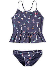 Roxy 2-Pc. Tropicool Printed Tankini, Little Girls