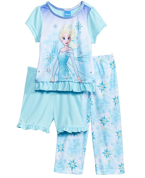 Disney's® 3-Pc. Pajama Set, Toddler Girls