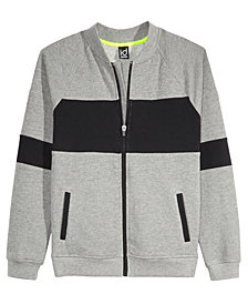 Ideology Colorblocked Bomber Sweatshirt Jacket, Big Boys, Created for Macy's