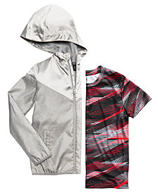 Ideology Metallic Hooded Jacket & Printed T-Shirt, Big Boys, Created for Macy's