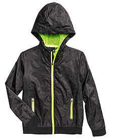 Ideology Camo-Print Hooded Shell Jacket, Big Boys, Created for Macy's