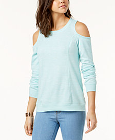 Ultra Flirt Juniors' Cold-Shoulder Sweatshirt