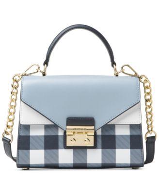 michael kors sloan gingham small top handle satchel created for rh macys com