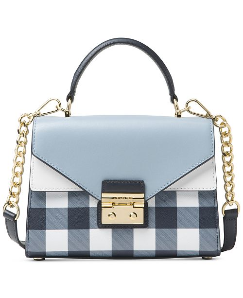 2a88970321 Michael Kors Sloan Gingham Small Top-Handle Satchel