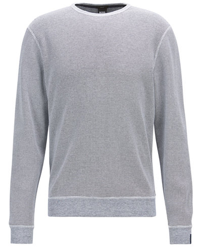 BOSS Men's Knit Cotton Sweatshirt
