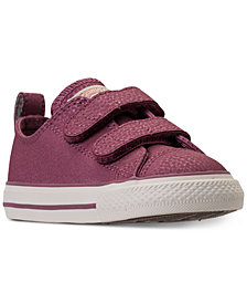 Converse Toddler Girls' Chuck Taylor Ox Leather Casual Sneakers from Finish Line