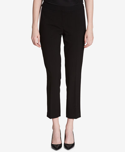 Calvin Klein Contrast Straight-Leg Pants