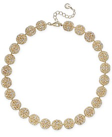 "Gold-Tone Crystal Openwork Beaded Collar Necklace, 18"" + 2"" extender, Created for Macy's"