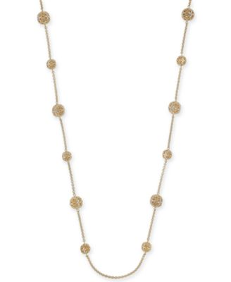 """Crystal Filigree Long Strand Necklace, 42"""" + 2"""" extender, Created for Macy's"""