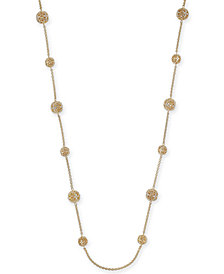 "Crystal Filigree Long Strand Necklace, 42"" + 2"" extender, Created for Macy's"
