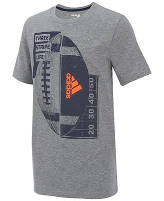 adidas Football-Print Cotton T-Shirt, Little Boys