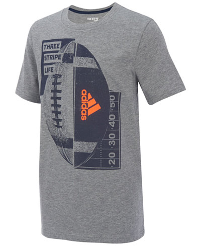 adidas Football-Print Cotton T-Shirt, Little Boys