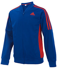 adidas Athletic Front-Zip Jacket, Toddler Boys