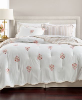 Embroidered Floret Reversible Cotton 8-Pc. Queen Comforter Set, Created for Macy's