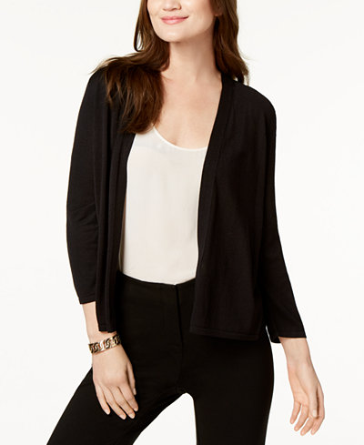 Alfani Petite Knit-Back Cardigan, Created for Macy's