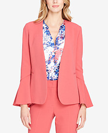 Tahari ASL Bell-Sleeve Blazer, Regular and Petite