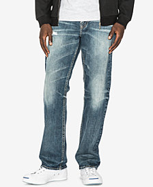 Silver Jeans Co. Men's Gordie Relaxed Straight Fit Stretch Jeans