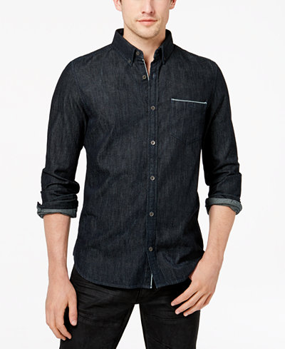 Calvin Klein Jeans Men's Premium Oxford Pocket Shirt - Casual ...