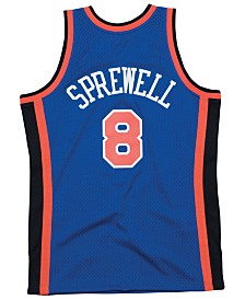 Mitchell & Ness Men's Latrell Sprewell New York Knicks Hardwood Classic Swingman Jersey