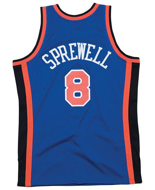 new arrival 22306 09655 Men's Latrell Sprewell New York Knicks Hardwood Classic Swingman Jersey