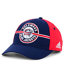 adidas Columbus Blue Jackets Circle Adjustable Cap