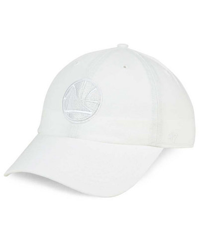'47 Brand Golden State Warriors White CLEAN UP Cap