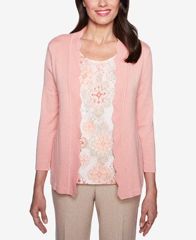 Alfred Dunner La Dolce Vita Layered-Look Sweater