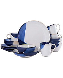 Gourmet Basics by Mikasa Caden Blue 16-Pc. Dinnerware Set, Service for 4