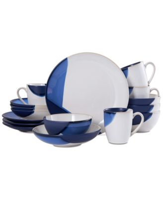Martha Stewart Collection Blue Rim 12-Pc. Dinnerware Set Service for 4 ...  sc 1 st  international-luxury.com & Island style dinnerware for casual meals and relaxed entertaining.