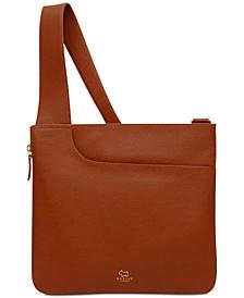 Pocket Bag Zip-Top Leather Crossbody