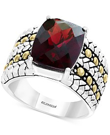 EFFY® Garnet Two-Tone Statement Ring (6-3/8 ct. t.w.) in Sterling Silver & 18k Gold