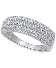 Diamond Multi-Row Anniversary Band (1/2 ct. t.w.) in 14k White Gold