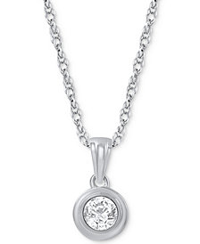 Diamond Pendant Necklace (1/5 ct. t.w.) in 14k White Gold