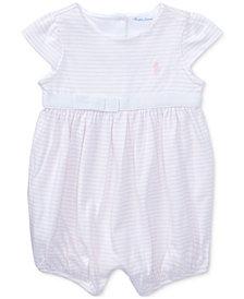 Ralph Lauren Cotton Romper, Baby Girls
