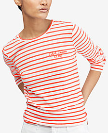 Polo Ralph Lauren Striped Long-Sleeve Cotton T-Shirt