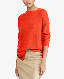 Polo Ralph Lauren Rib-Knit Linen Sweater