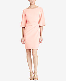 Lauren Ralph Lauren Pleated Slim Fit Dress, Regular & Petite Sizes, Created for Macy's