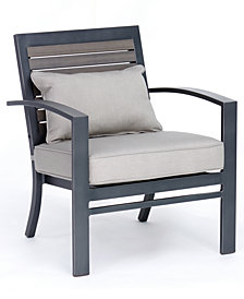 Marlough II Aluminum Outdoor Club Chair with Sunbrella® Cushion, Created for Macy's