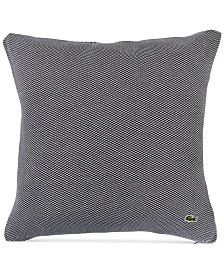 "Lacoste Home Knit 18"" Square Decorative Pillow"