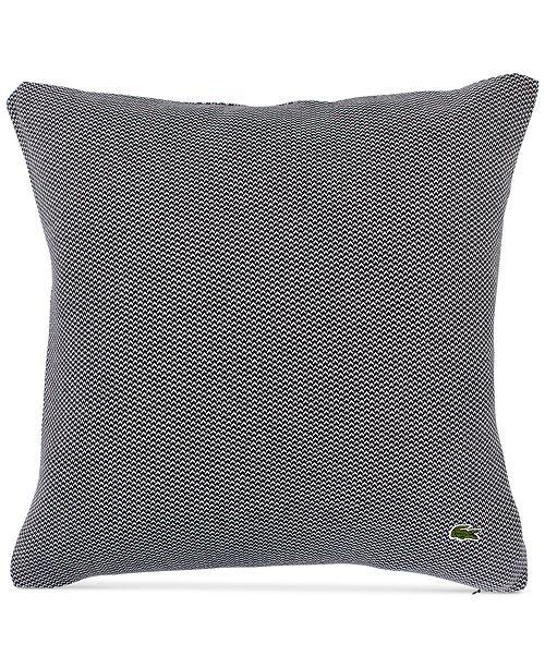 "Lacoste Home Knit 18"" Square Decorative Pillow"