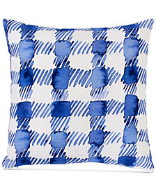 "bluebellgray Gingham 16"" Square Decorative Pillow"