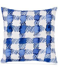 "bluebellgray Gingham 16"" Square Decorative Pillow"