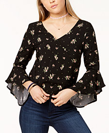 One Hart Junior's Printed Surplice Top, Created for Macy's