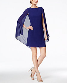 Vince Camuto Chiffon-Cape Sheath Dress