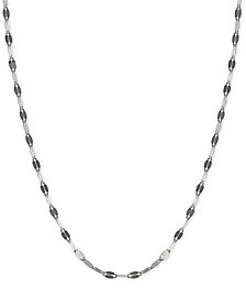"Giani Bernini Twist Link 20"" Chain in Sterling Silver, Created for Macy's"