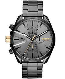 Men's Chronograph MS9 Chrono Black Stainless Steel Bracelet Watch 47mm